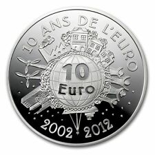 2012 France Silver €10 10th Anniversary of the Euro Silver Coin - 10 Euro's