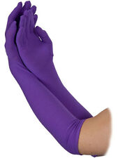 Long Purple Opera Halloween Gloves Womens Fancy Dress Elbow Evening Ladies 1920s