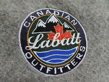 Labatt Beer Gray Wool Blend Blanket Throw Canadian Outfitters 55 x 84 in cottage