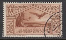 ITALY :1930 Virgil Birth Bimillenary Airmail 50c reddish-brown  SG 299 used