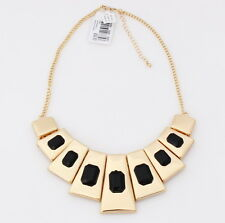 Macy's - Gold Tone Metal Geometric Frontal Choker Sexy Statement Necklace