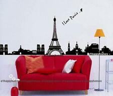 Eiffel Tower I LOVE PARIS Wall Stickers Art Wallpaper Mural Decal Office Lounge