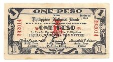 May 1,1944 Philippines One Peso Emergency Circulating Note !!