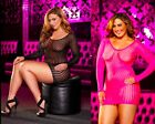 Plus Size Sexy Lapdance Mini Dress 16 18 20 Erotic Lingerie Club Wear Black Pink