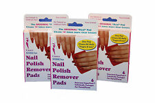 48 x packs of 6 (288) Calico Nail Polish remover pads   Non Acetone   Wholesale