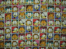 NEW Rare Garfield Patchworks Quilting Fabric 100% Cotton Sold By FQ