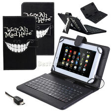 We're all mad Leather Keyboard Case Cover For Samsung Galaxy Tab A 9.7 T550 T555