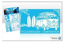 Official VW Camper Van Tea Towel Surfing Surf Sketch Blue Souvenir Gift Beach