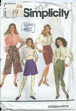 Culottes, Skirt and Pants - Simplicity Pattern 7386