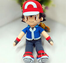 Pokemon Pocket Monsters Partners Ash Ketchum Soft Plush Toy Doll 11''