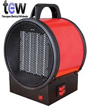 Compact portable Garage Workshop Safe Steel2kW Electrical Blow Fan Heater plugin