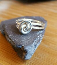 Handmade 925 Sterling Silver Knotted/Rose Wire Double Wrapped Ring  Boho Hippy