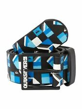 NEW* QUIKSILVER SURF BELT VEGAN MENS XL 38 Filter Blue Black White