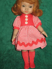 """RED CHECK DRESS - Made to fit 10"""" ANN ESTELLE DOLL"""