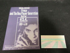 Prince 1992 Japan Ticket Stub and Japanese Flyer New Power Generation
