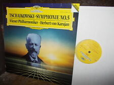 TCHAIKOVSKY: Symphony n°5   Vienna Wien Karajan / DG digital Germany LP NM-