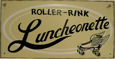 Roller Rink Luncheonette Rollerskating Vintage Metal Sign
