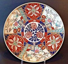Nippon - Signed And Hand Painted Imari Birds Of Paradise Charger Large Plate