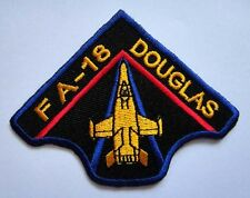 FA-18 HORNET THE MCDONNELL DOUGLAS Embroidered Iron on Patch Free Shipping