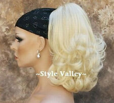 Bleach Blonde Ponytail Ponytail Extension clip on Curly Light Blond hair piece
