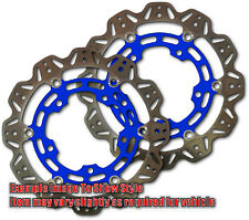 Front VEE Brake Rotors - Blue for 2015 Triumph Street Triple RX Apps.