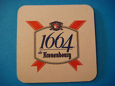 Beer Coaster    KRONENBOURG Brasserie 1664 ** Additional Coasters Only $0.25 S&H