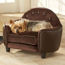 DESIGNER Small SOFT Warm Pet DELUXE SOFA BED Cat Seat Dog Crate Puppy Cushion
