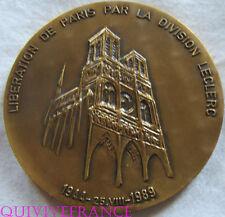 MED5032 - MEDAILLE LIBERATION DE PARIS & STRASBOURG PAR LA DIVISION LECLERC 1944