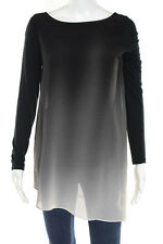 Mint Velvet Gray Ombre Long Sleeve Blouse Top Size 10