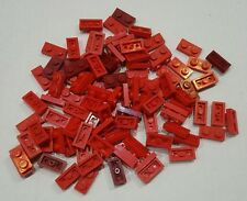 Lotto lot 100 lego plate 3023 1x2 red dark red