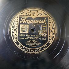 78rpm BING CROSBY meet the sun half-way / the pessimistic character
