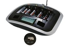 New Tronic Professional Rapid battery charger with USB Charging Port LCD Display