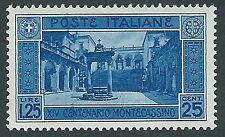 1929 REGNO MONTECASSINO 1,25 LIRE MH * - CZ27-4