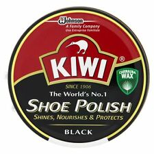 Kiwi Black Shoe Polish Shiner Protector 50ml Tin (Free P&P)