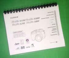 COLOR PRINTED Fujifilm FinePix S5700 S5800 Instruction Manual Guide 180 Pages