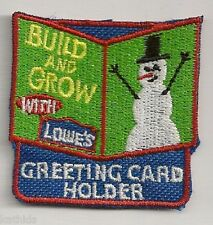 Lowe's Build & Grow Kids Workshop Collectible Patch: Greeting Card Holder