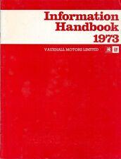 Vauxhall Guida informativa 1973 pronto un riferimento per la stampa, radio e televisione