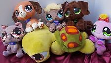 LITTLEST PET SHOP BUNDLE PLUSH DOLL RACCOON SPIDER RESCUE DOG HORSE BEAGLE TALK