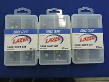 Eagle Claw Lazer Drop Shot Kit, Lot Of 3