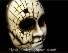 Fragile Face Halloween Mask With Moveable Jaw Prop Horror Doll Face