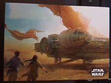 2015 Topps Star Wars Force Awakens Concept Art #6 Finding the Millennium Falcon