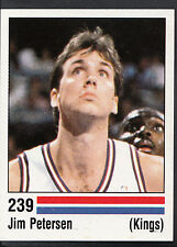 Panini NBA Basketball 1989 Sticker - No 239 - Jim Petersen - Kings (GD)