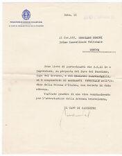NOMINA AD UFFICIALE ORDINE DELLA CORONA D'ITALIA 1941 GENOVA  21-211