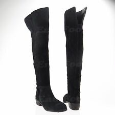 Sam Edelman Johanna Women's Black Over Knee Suede Boots Size 6.5 M NEW RTL $300