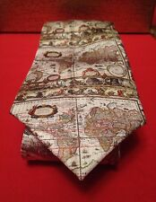 Mens Fox & Chave Tie - World Map BNIB RRP £30