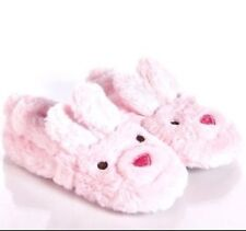 Stride Rite Toddler Girl's Pink Bunny Slippers - S 7/8 - NEW W TAGS