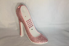 High Heel Shoe Telephone with Rhinestone Bling in Sweet Pink N 297