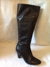 Oasis Black Knee High Leather Boots Size 37