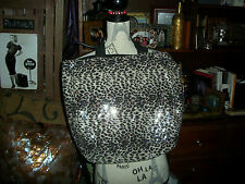ANTHROPOLOGIE BAILEY 44 Oh So Fly Leopard Sequin Tote Bag