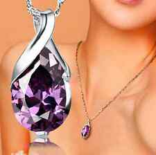 Natural Crystal Amethyst Healing Point Chakra Bead Stone Pendant for Necklace